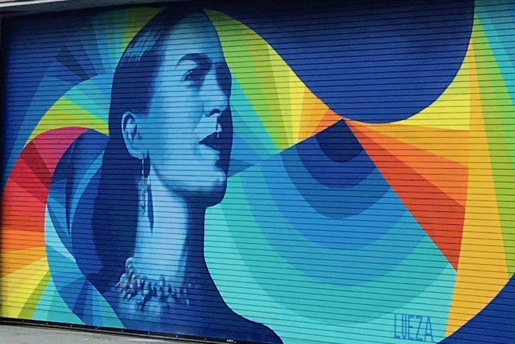 rainbow outdoor mural
